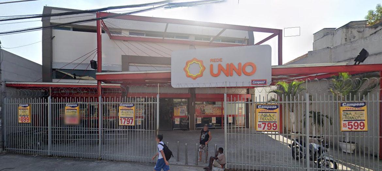 Supermercados Campeão - Fachada loja Rocha