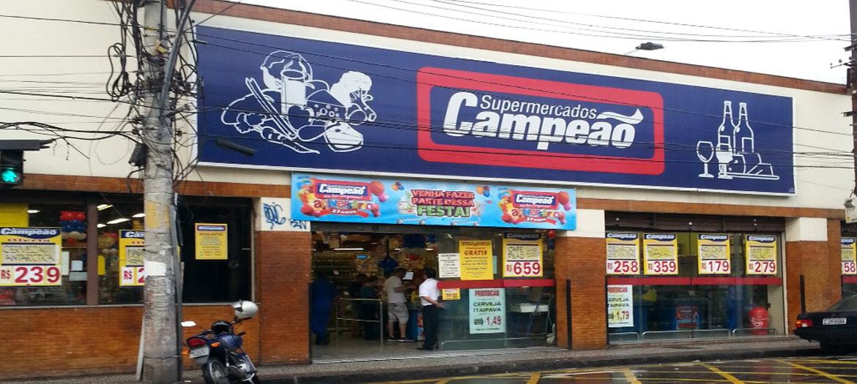 Supermercados Campeão - Fachada loja Andaraí