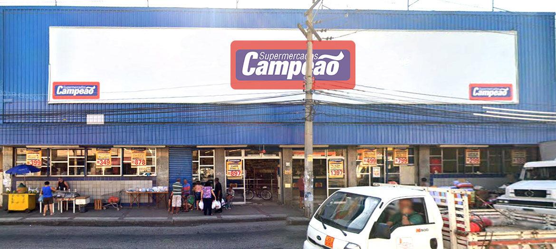 Supermercados Campeão - fachada loja abolição
