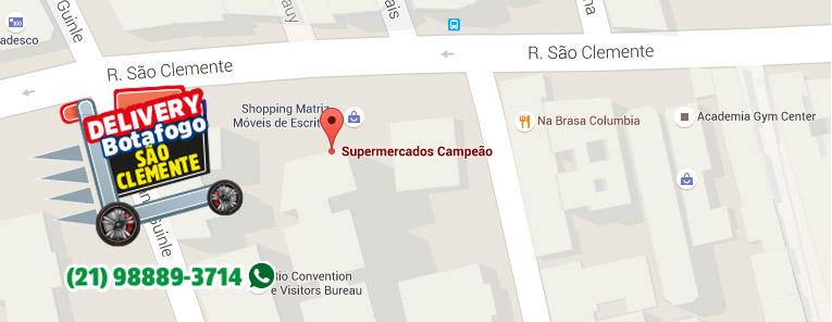 Selo local mapa loja BotafogoSupermercados Campeão