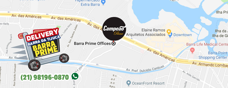 Selo local mapa loja Barra da Tijuca Supermercados Campeão